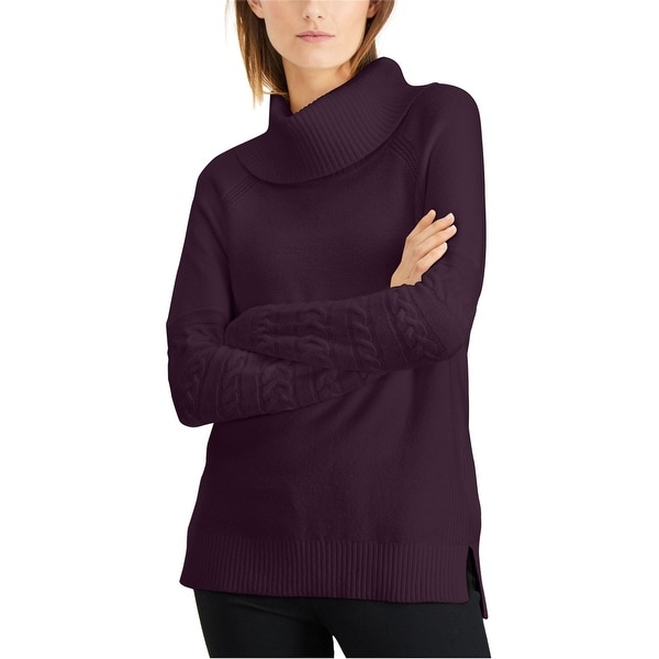 Calvin Klein Womens Cowl Neck Pullover Sweater, Purple, Large. Opens flyout.