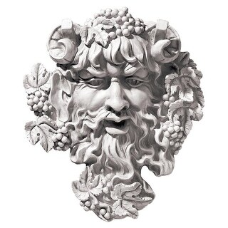 Design Toscano Bacchus, God of Wine Greenman Wall Sculpture: Medium