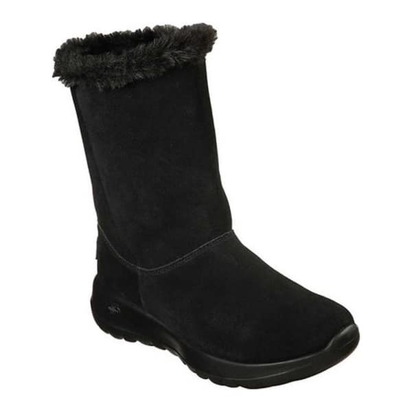 secuencia beneficioso historia  Shop Skechers Women's On the GO Joy Winter Snow Boot Black/Black -  Overstock - 25595003