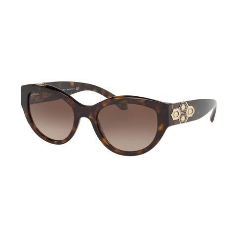 Bvlgari BV8221B 504/13 53 Dark Havana Woman Irregular Sunglasses
