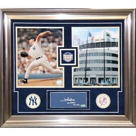 Jim Abbott Signed and Inscribed No Hitter Framed Chit Collage - 16x19 7523