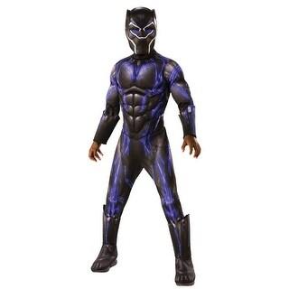 Rubies Endgame Deluxe Battle Black Panther Child Costume - Black/Purple