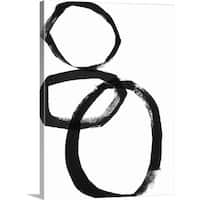 Linda Woods Premium Thick-Wrap Canvas entitled Brushstroke Circles I - Multi-color