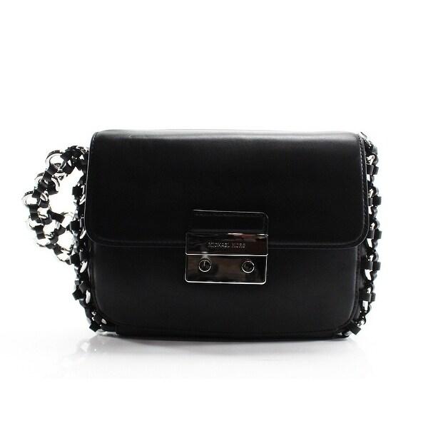 3356d8d968eb Shop Michael Kors NEW Black Leather Ring Chain Piper Shoulder Bag ...