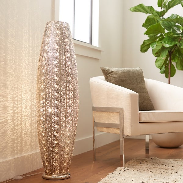 Silver Orchid Brielle 43.5-inch 2-light Floor Lamp. Opens flyout.