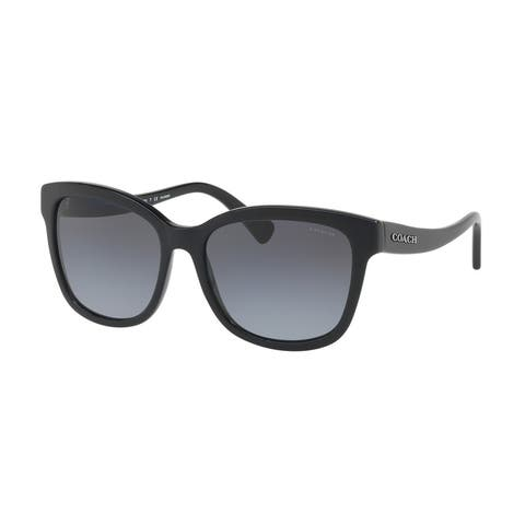 Coach Women's HC8219 5002T3 56 Grey Gradient Polarized Plastic Square Sunglasses