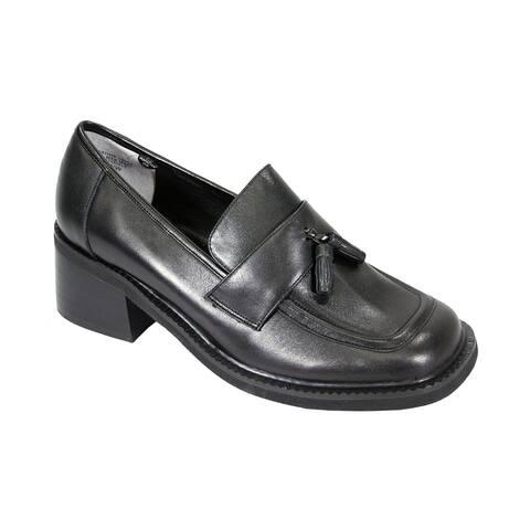 PEERAGE Rhona Women's Extra Wide Width Tassel Leather Shoes