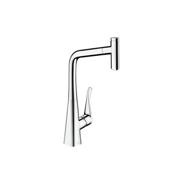 Shop Hansgrohe 14884 Metris Select High Arc Pull Out Kitchen Faucet