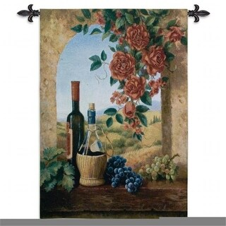 FineArtTapestries 4038-WH Patio View Wall Tapestry