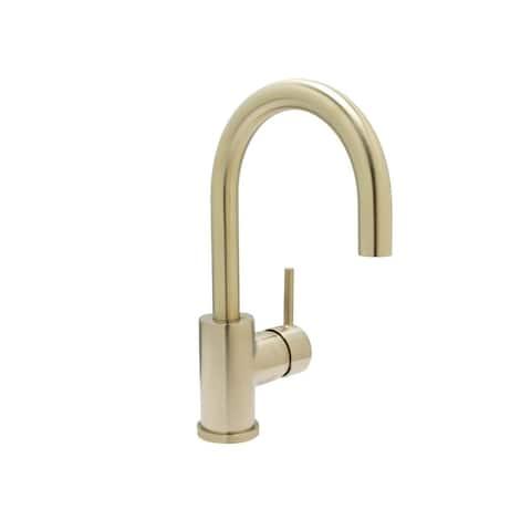 Bar or Lavatory Faucet, PVD Satin Brass Finish - Single Hole