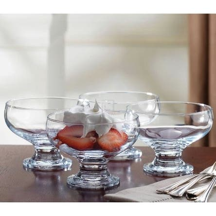 Set of 8 Klikel Inc SYNCHKG090790 Dessert Ice Cream Dishes Bowls Home Essentials Footed Clear Glass 8 Oz