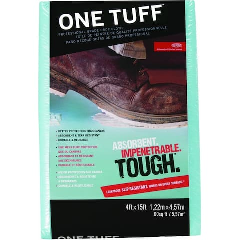 Trimaco 90099 One Tuff Drop Cloth Runner, 4'X15'