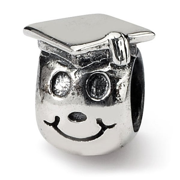 Sterling Silver Reflections Kids Happy Graduate Bead (4mm Diameter Hole)