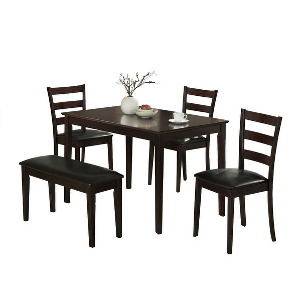 Shop Monarch Specialties I 1211 Five Piece Set Wood Framed Leather