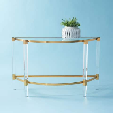 """SAFAVIEH Couture Anabelle Acrylic Console Table - 47.2"""" W x 17.7"""" L x 28.7"""" H"""
