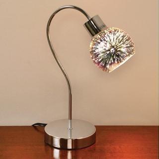 Mercury Glass Globe Mini Lamp - Chrome Gooseneck Stand Light