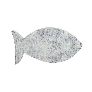 """9"""" White and Blue Cape Cod Inspired Fish Table Top Decoration - N/A"""