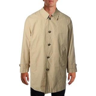 Tommy Hilfiger Mens Laan Single Vent Cotton Blend Raincoat - 40R