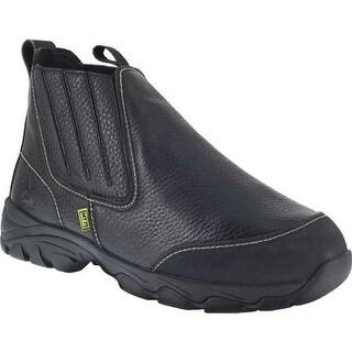 Iron Age Men's Galvanizer Chelsea Steel Toe Work Boot Black Full Grain Leather/Kevlar