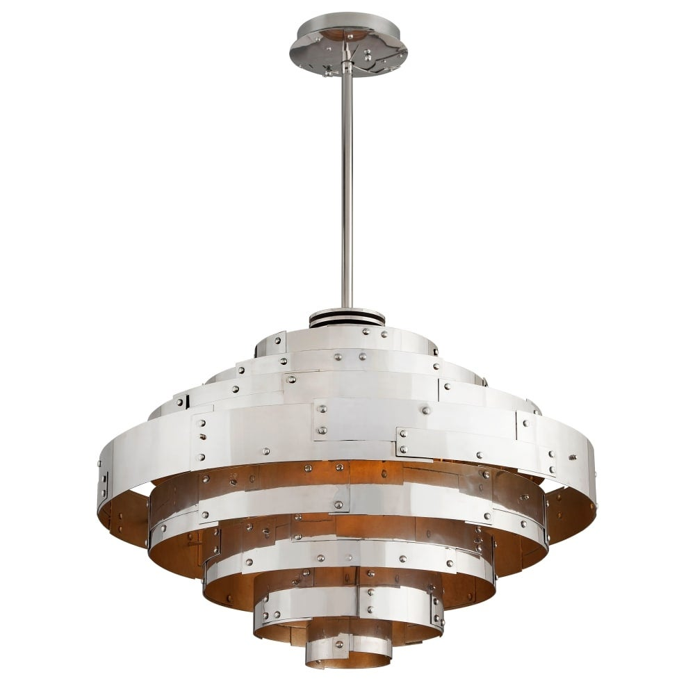 Troy Lighting F4725 Mitchel Field 22 5 Tall 1 Light Led Pendant With Frosted Gl Vintage Aluminum Parisian Silver Leaf