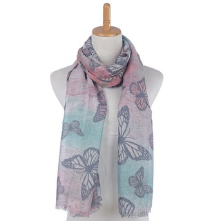 Mad Style Chartreuse Butterfly Modal Scarf