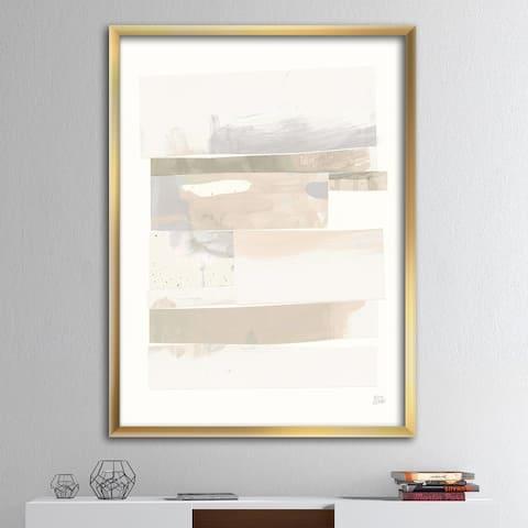 Designart 'Geometric Neutral Form IV' Shabby Chic Framed Art Print
