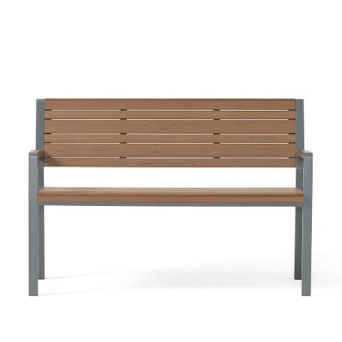 Davos Outdoor Aluminum Outdoor Bench by Christopher Knight Home