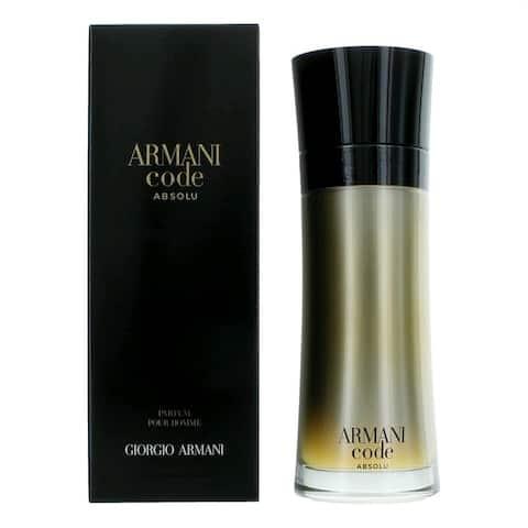 Giorgio Armani Armani Code Absolu Parfum Spray For Men 6.7 OZ