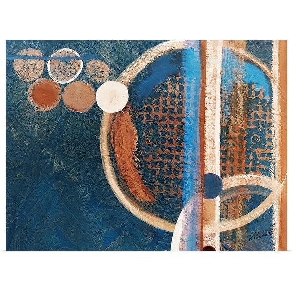 """Circle Abstract Version II Blue"" Poster Print"