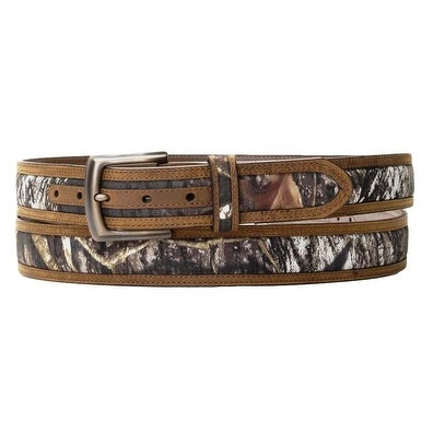 Nocona Western Belt Mens Leather Inlay Mossy Oak Camo