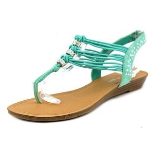 Madden Girl Thrill Open Toe Leather Thong Sandal