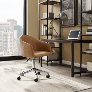 Art Leon Round Back Swivel Desk Chair with Caster