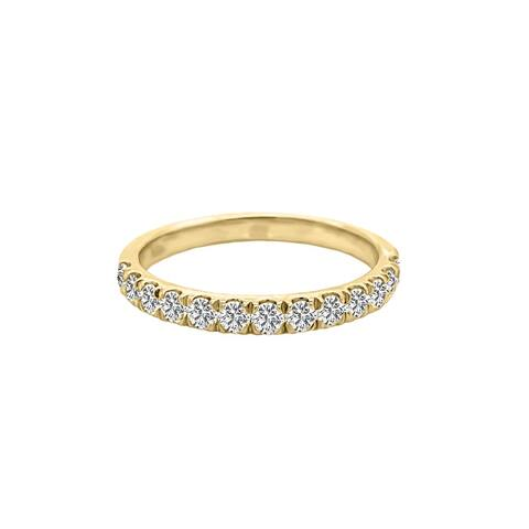 14K Gold Diamond Wedding Band (0.50 Ct, G-H Color, SI2-I1 Clarity) by Noray Designs