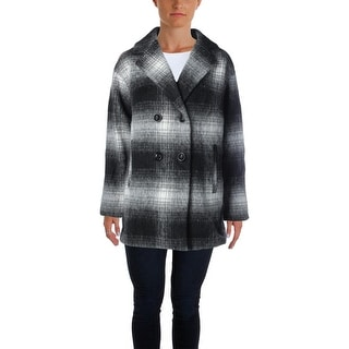 Wild Flower Womens Coat Wool Plaid