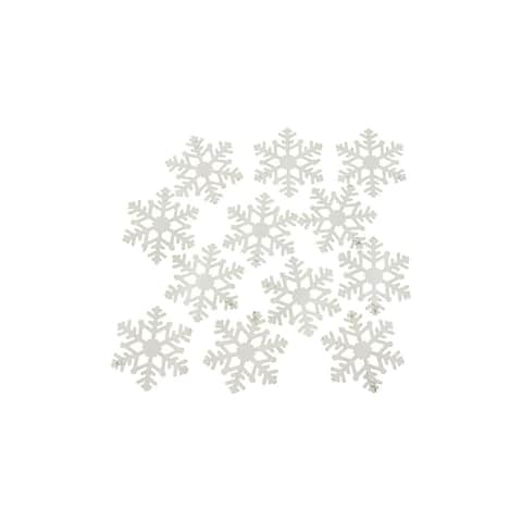 Set of 12 White Snowflakes - 3.25""