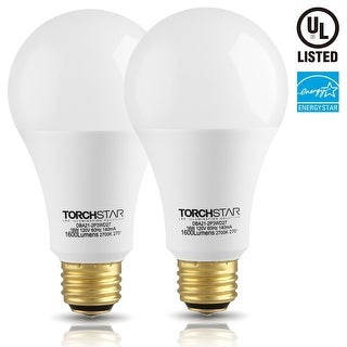 2 PACK 3-Way LED A21 Light Bulb, ENERGY STAR + UL-listed, 2700K Soft White/5000K Daylight