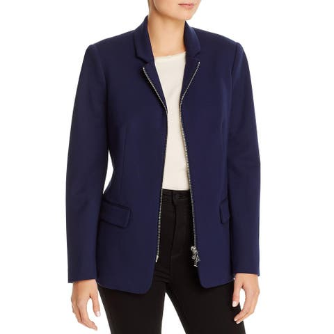 T Tahari Womens Jacket Business Office - Navy