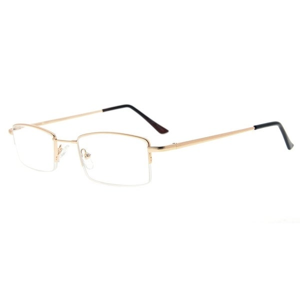 75f72318b6ac Eyekepper Half-rim Reading Glasses With Flex Memory Titanium Bridge  Bendable For Men Women (