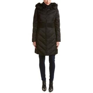 T Tahari Penelope Black Down Coat