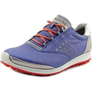 Ecco Biom Hybrid Round Toe Leather Golf Shoe