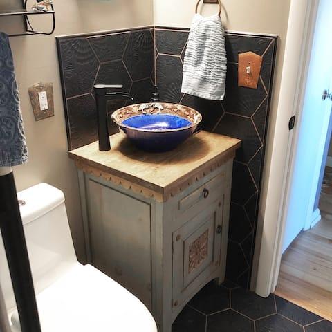 "SomerTile Gaudi Hex Black 8.63"" x 9.86"" Porcelain Floor and Wall Tile"