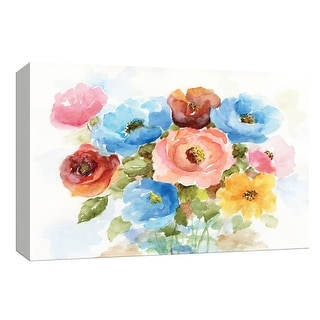 """PTM Images 9-148310  PTM Canvas Collection 8"""" x 10"""" - """"Color Wheel Bouquet I"""" Giclee Roses Art Print on Canvas"""