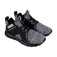 Puma Enzo Knit Nm Mens Black Textile Athletic Lace Up Training Shoes