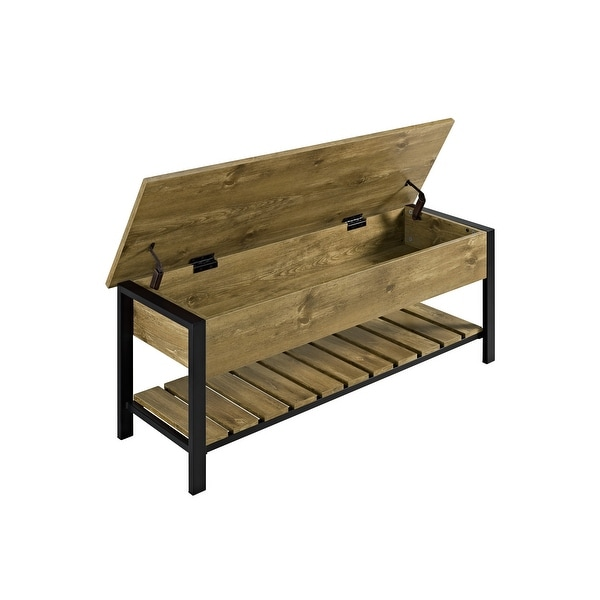 """Delacora WE-BD48PCSB Cavalier 48"""" Wide Durable Laminate and Metal Bench"""