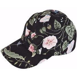 Gucci Women's Black Flora Knight Floral Canvas Baseball Hat S