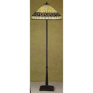 Meyda Tiffany 29503 Stained Glass / Tiffany Floor Lamp from the Greek Key Collection