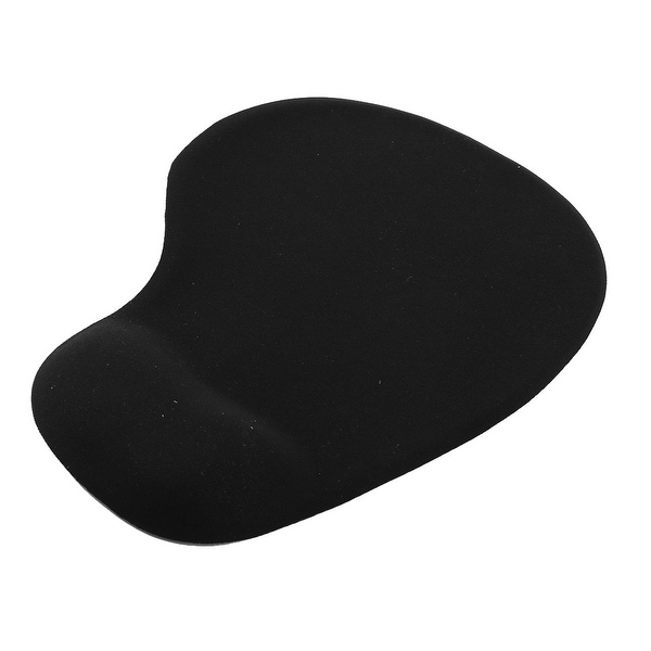 Office Computer Laptop Mice Mouse Pad Mat w Gel Wrist Rest Support Black