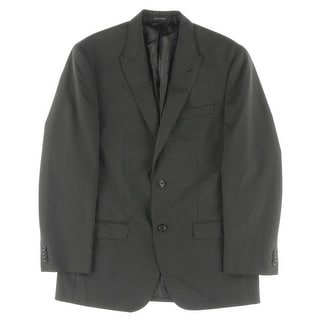 Sean John Mens Two-Button Suit Jacket Pinstripe Lined - 40R