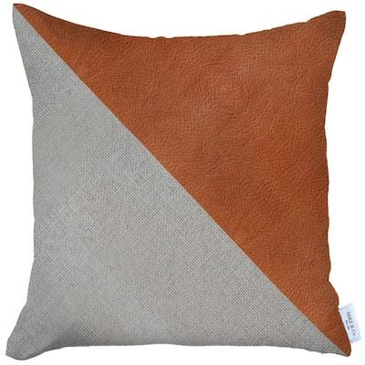 Boho-Chic DecorativeVeganFaux Leather Pillow Covers
