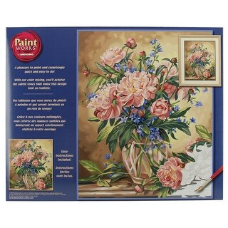 "Paint Works Paint By Number Kit 16""X20""-Peony Floral"